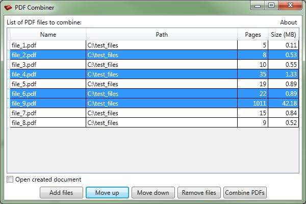 PDF Combiner - Order changing