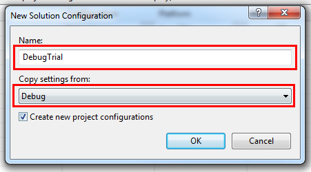 New Solution Configuration