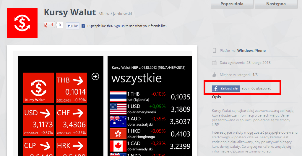 Kursy Walut - Appaward.pl