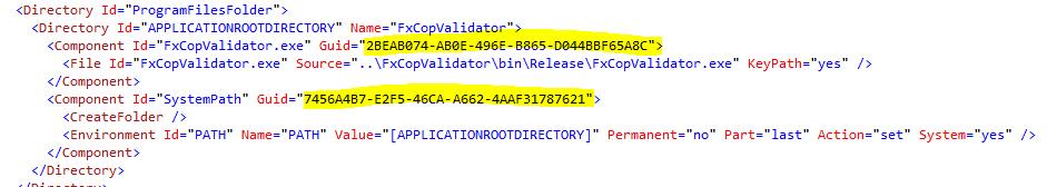 WiX - configuration file