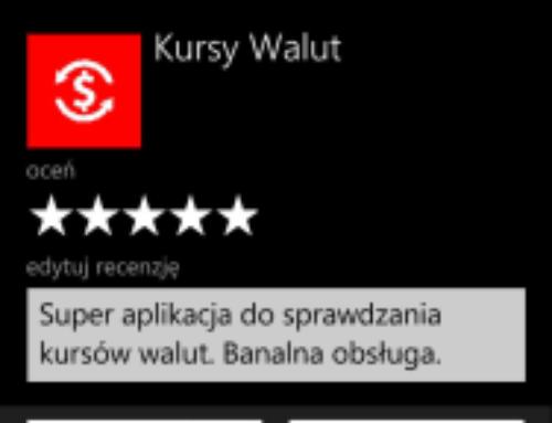 Użytkowniku oceń moją aplikację!?!