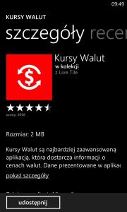 Windows Store - Kursy Walut - Szczegóły