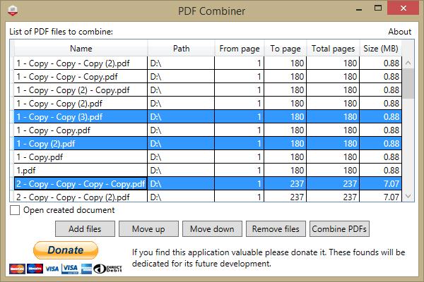 PDF Combiner - Merging