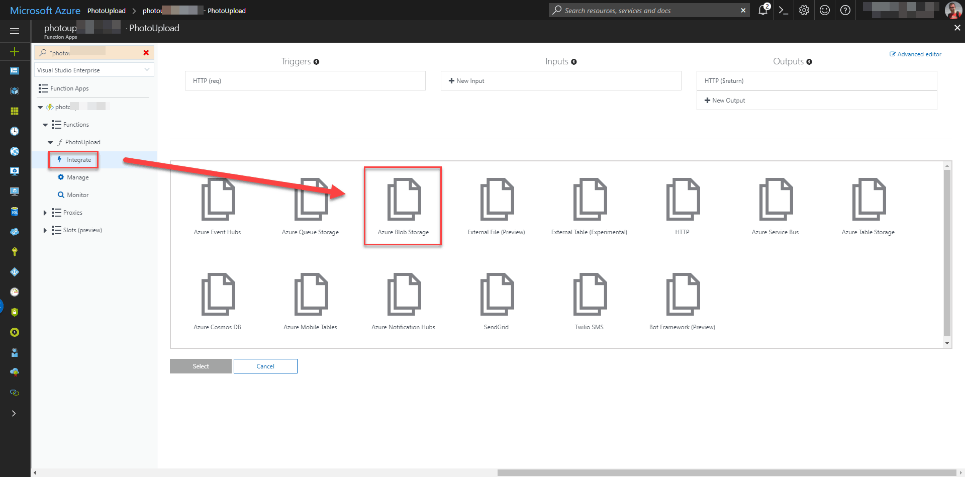 Azure Function – Uploading photos to Azure Blob Storage - Michał
