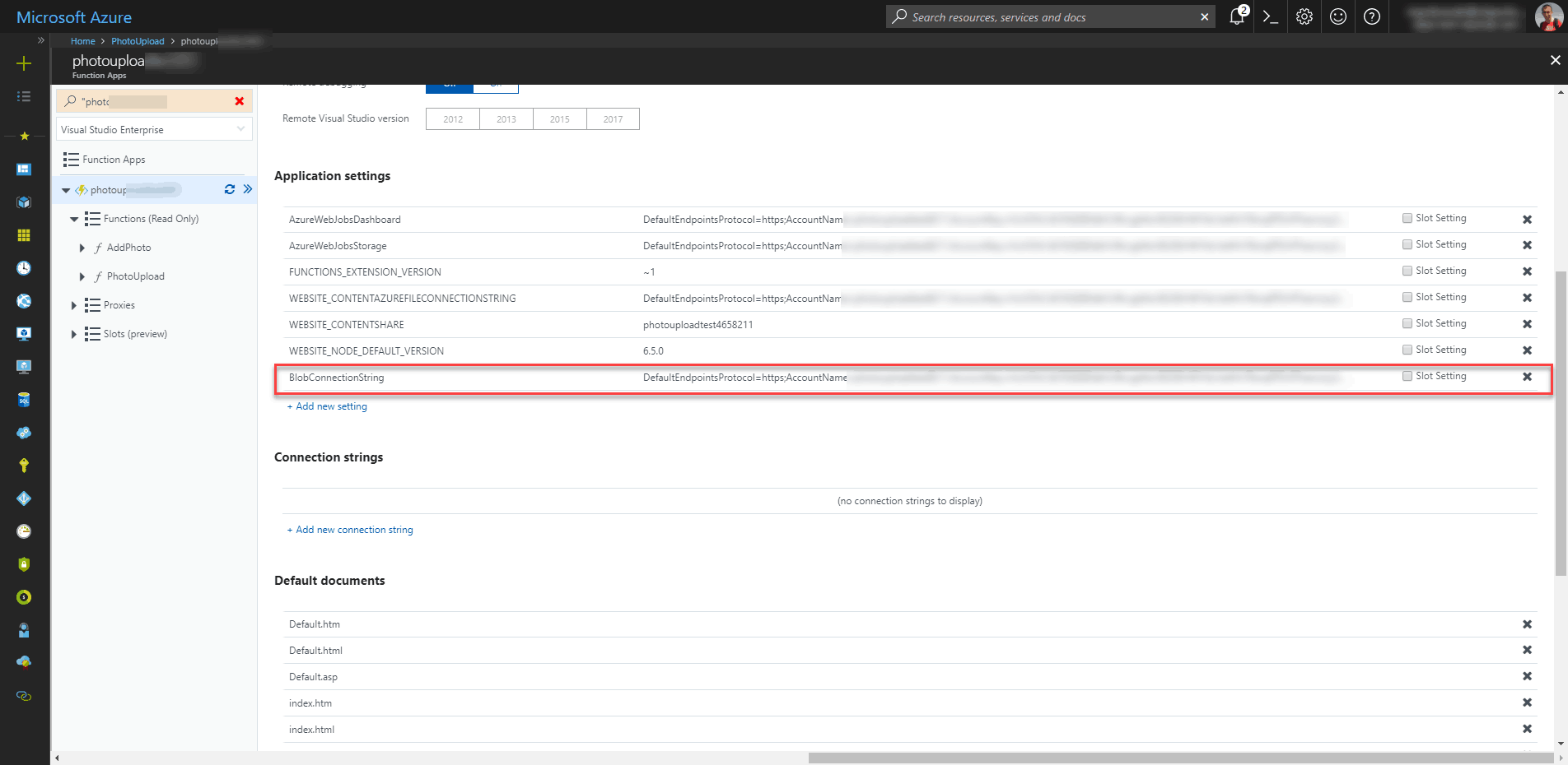 Azure Function – Uploading photos to Azure Blob Storage
