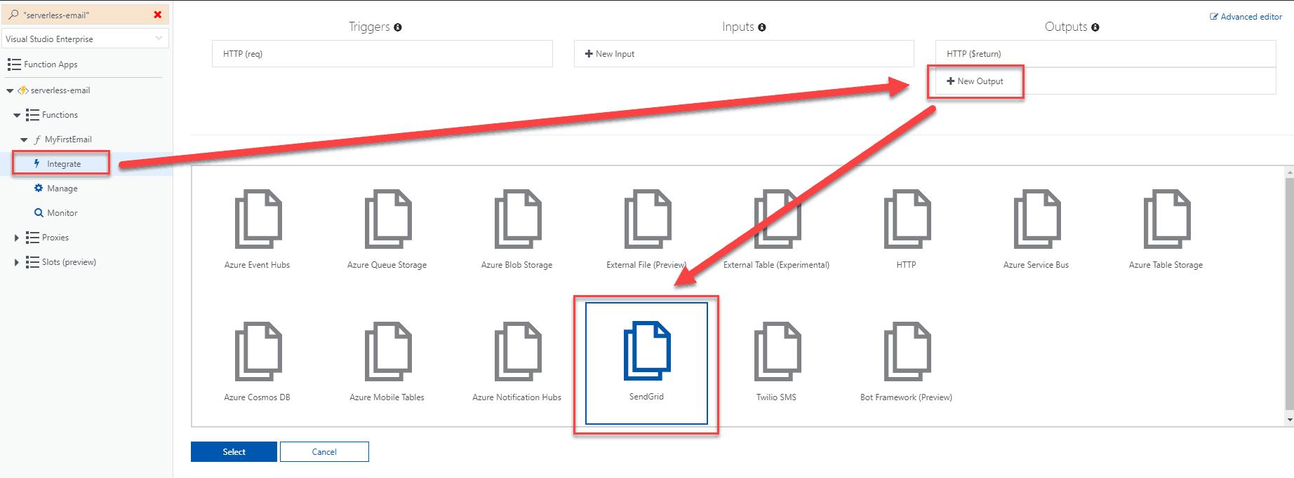 Sending emails from Azure Functions – SendGrid - Michał