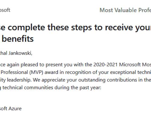 Microsoft MVP 2020 – 2021